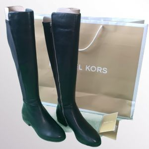 NIB Michael Kors Brinkley Leather Boots Size 9